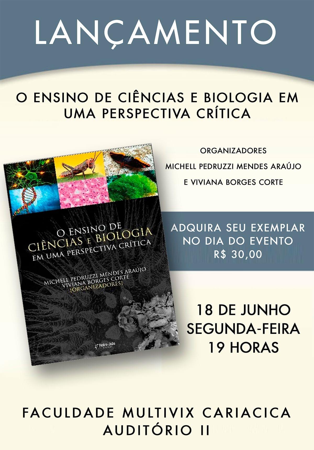 Palestra sobre o ensino de Ciências e Biologia para Pedagogia