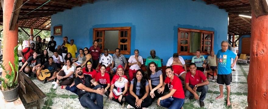 """Evento do Dia das Crianças – """"Encontro de Gerações""""aconteceu no dia 11/10 no Instituto Martins, lar de idosos, localizado em Novo Brasil - Cariacica."""