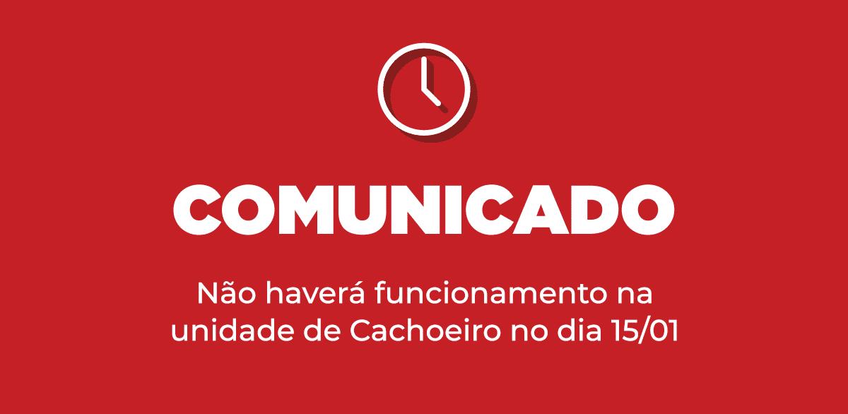 Multivix em Cachoeiro não funcionará no dia 15/01