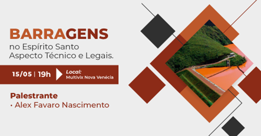 Palestra Barragens no Espírito Santo - Aspecto técnicos e legais