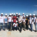 Visita técnica a obra da nova sede de Vila Velha, turma de Engenharia Civil.