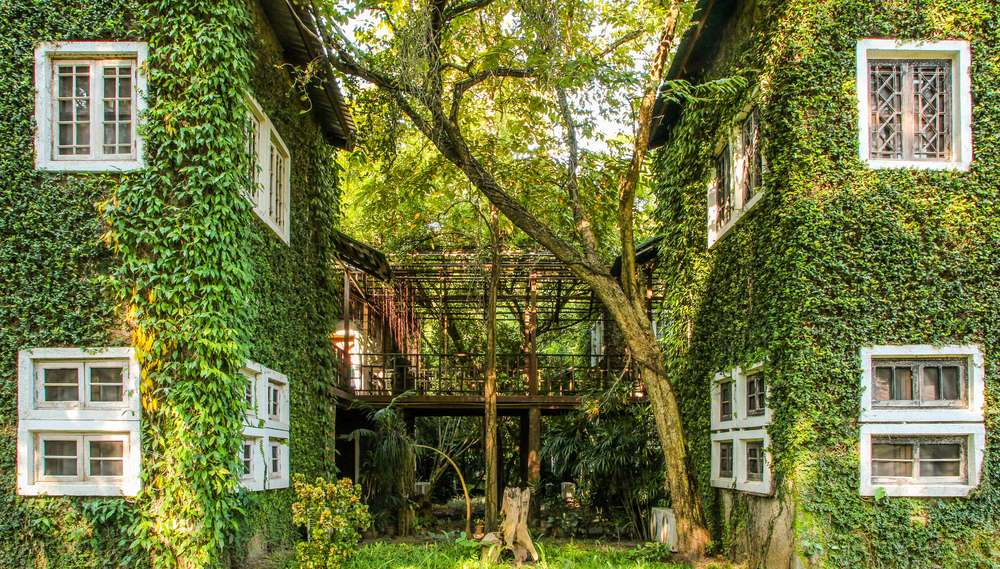 Casas com design verde construídas a partir de de um projeto de arquitetura e urbanismo sustentável